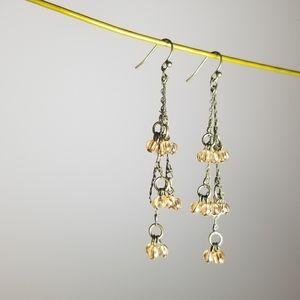 AEO Dangling Earrings | Coral Beaded Earrings